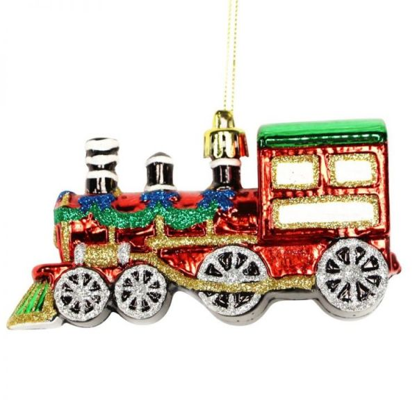 Red Christmas Train Bauble