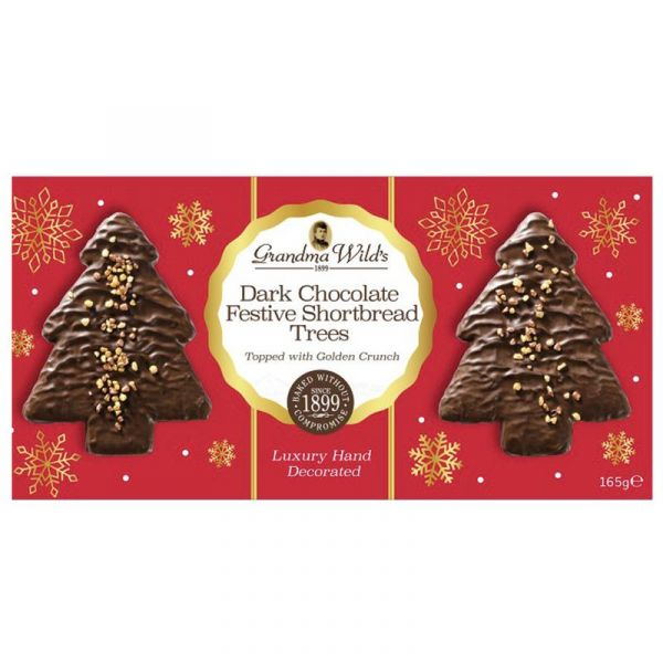 Dark Chocolate Festive Trees