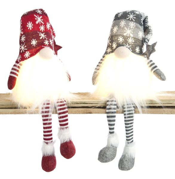 Battery Operated Lit Snowflake Dangly Legs Gonks