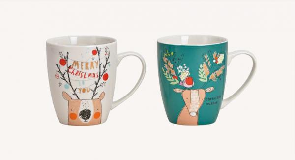 Deer / Merry Christmas Mug