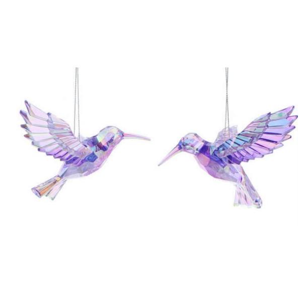 Purple Acrylic Hummingbird