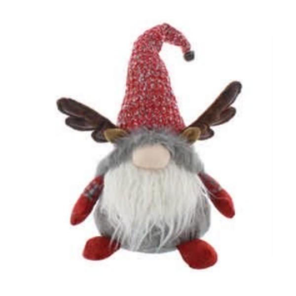 Red / Grey Sitting Reindeer Gonk