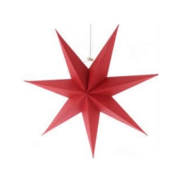 Red Paper Foldable Star