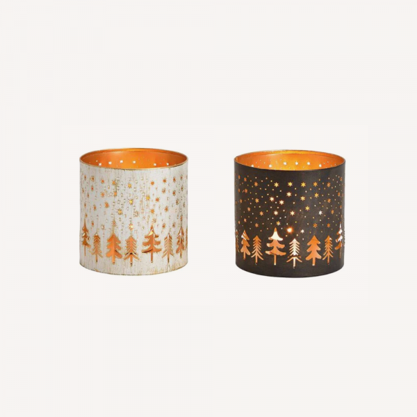 Winter Forest Tea Light Holder